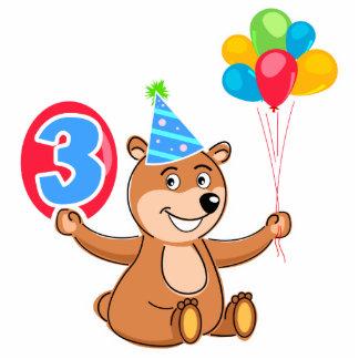 3ro Oso del cumpleaños con los globos Esculturas Fotograficas