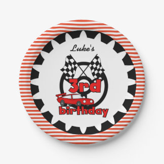 3ro Placas de papel del cumpleaños de las carreras Plato De Papel De 7 Pulgadas