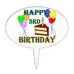 3ro primero feliz de la torta de cumpleaños - apel palillos de tarta
