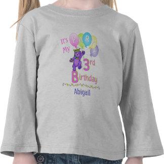 3ro Princesa Bear de la chica marchosa del cumplea Camisetas