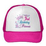 3ro Princesa del cumpleaños Gorros
