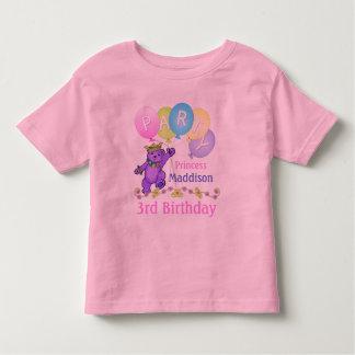 3ro Princesa del cumpleaños, nombre de encargo Playera De Bebé