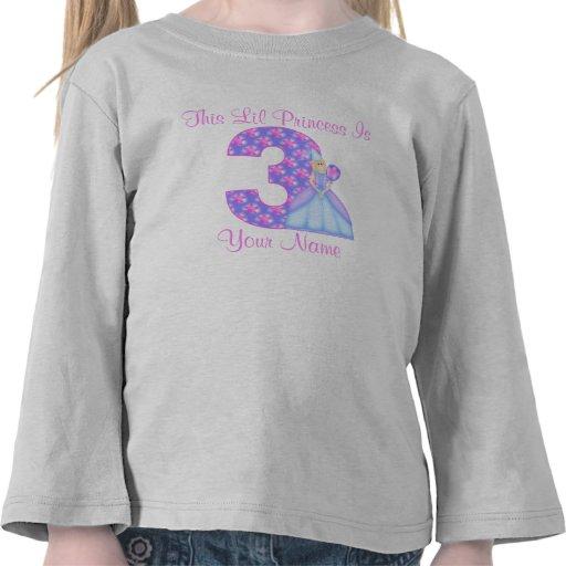 3ro Princesa T-Shirt del cumpleaños Camisetas