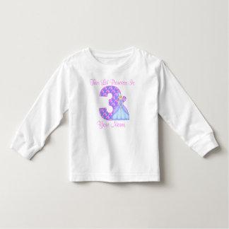 3ro Princesa T-Shirt del cumpleaños