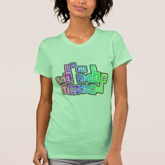 3ro profesor del grado de los colores brillantes camiseta