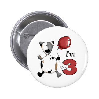 3ro Regalo de cumpleaños del perrito del cumpleaño Pins