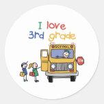 3ro Regalo de la escuela primaria Etiqueta Redonda