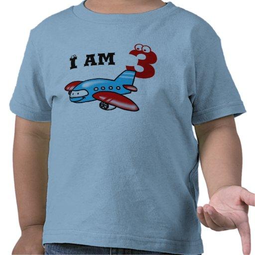 3ro regalo del muchacho del cumpleaños (aeroplano) camiseta