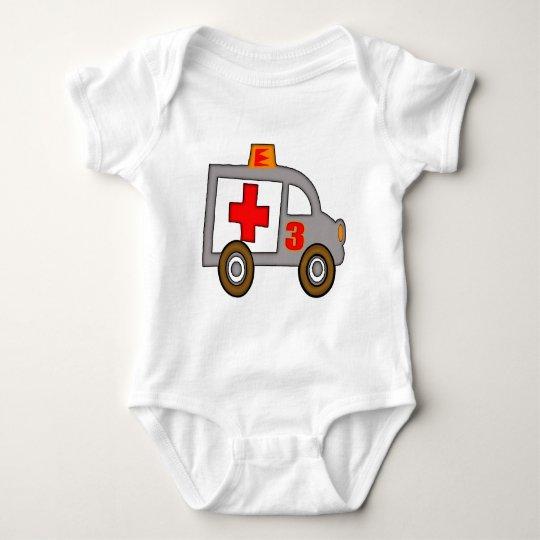 3ro regalos de cumpleaños de la ambulancia body para bebé