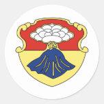 3ro Regimiento de la armadura de los BN 67.os Pegatina Redonda
