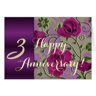 3ro rosas del aniversario de boda