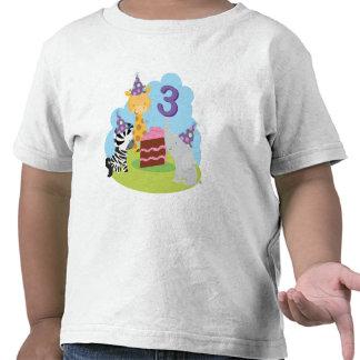 3ro Safari del cumpleaños Camisetas