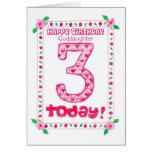 3ro Tarjeta de cumpleaños para una ahijada