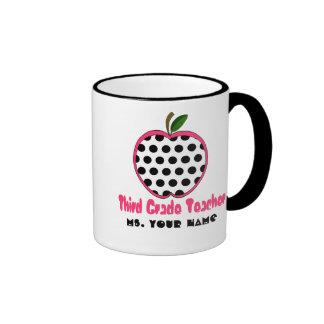 3ro Taza del profesor del grado - lunar Apple