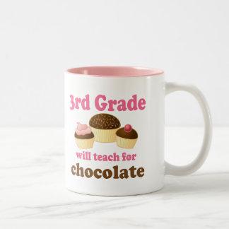 3ro taza divertida del profesor del grado