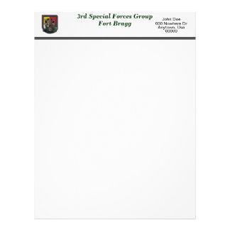 3ro veteranos Lette de destello de Fort Bragg de l Membrete A Diseño