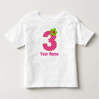 3ro Y verde del cumpleaños camisa personalizada