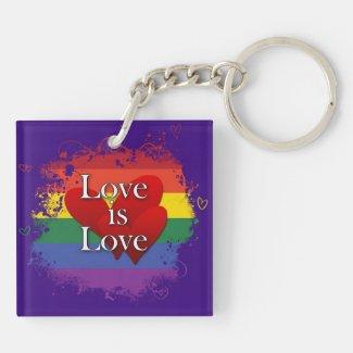 <3s & Keys Square Acrylic Key Chains