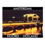 3Tall sucio encajona la postal Amsterdam
