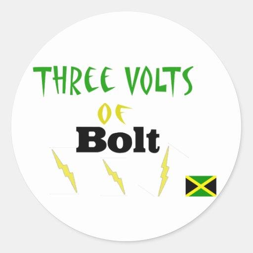 3volts of bolt classic round sticker