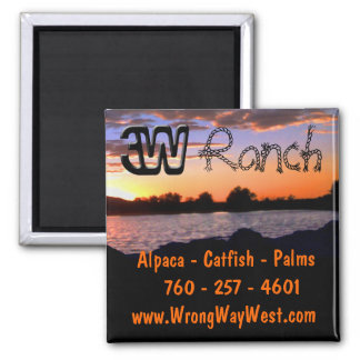 3W Ranch Magnet