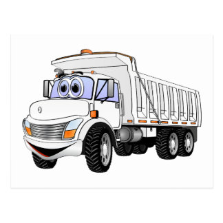 3WA Dump Truck Cartoon Postcard