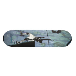 3warriors blue custom skate board