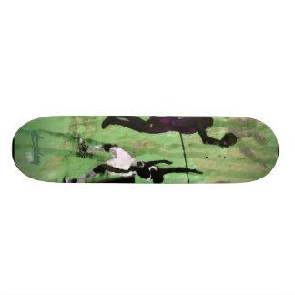 3warriors green skate deck
