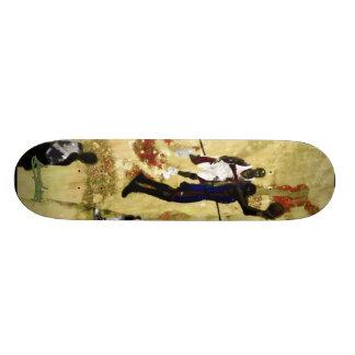 3warriors yellow and red custom skateboard