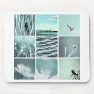 3x3 aqua nature photography Mousepad