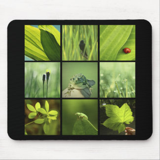 3x3 green nature photos Mousepad