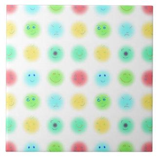 3x3 pequeñas caras A1 Azulejo Cuadrado Grande