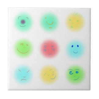 3x3 pequeñas caras A1 Azulejo Cuadrado Pequeño