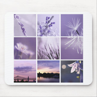 3x3 purple nature photography  Mousepad