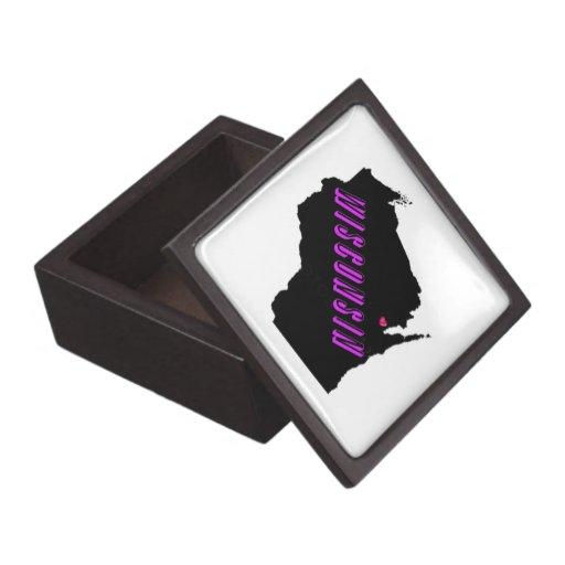 3x3 púrpura/negro de Wisconsin Caja De Joyas De Calidad