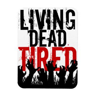 """3x4"""" Living Dead Tired Magnet"""