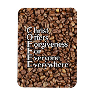 3x4 Magnet COFFEE Beans Christ Offers Forgiveness