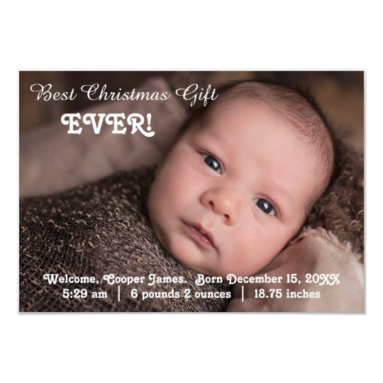 Baby announcement christmas gift