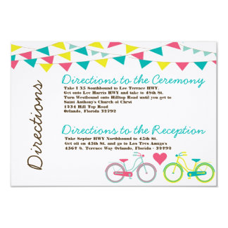 3x5 Directions Card Lovers Bike Bicycle Carnival