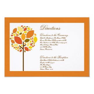 3x5 Directions Card Modern Autumn Tree Fall