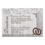 3x5 Directions Card Wedding Horse Shoes on Wood Invitations