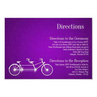 3x5 Directions Card Whimsical Purple Double Bike