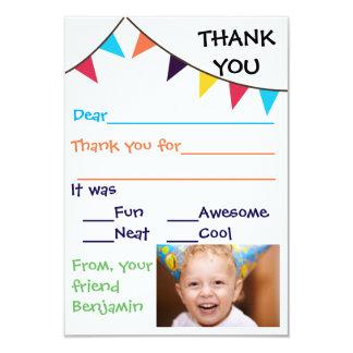 3x5 Kid's Bunting Custom Thank You Cards