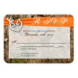 3x5 R.S.V.P. Reply Card Deer Couple Doe Buck Camo