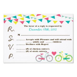 3x5 R.S.V.P. Reply Card Lovers Bike Bicycle Carniv