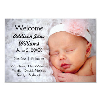3x5 Simple Chic Newborn Announcement