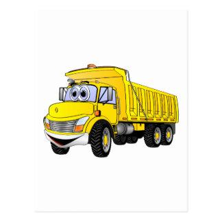 3YA Dump Truck Cartoon Postcard