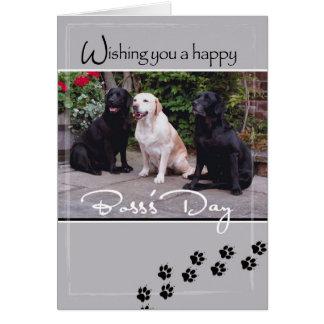 4004 perros del día de Boss, todos nosotros Tarjeta De Felicitación