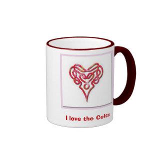 4009_celtic-heart, I love the Celts Ringer Mug