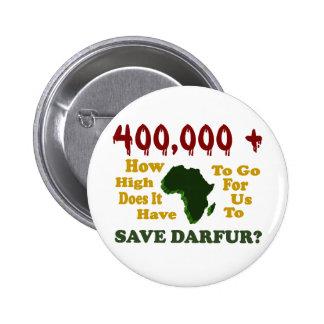 400,000+ DARFUR AWARENESS 1 PINBACK BUTTON